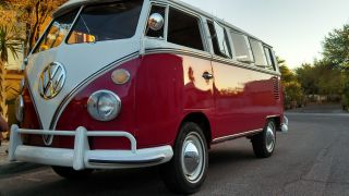 1966 Deluxe Vw Bus 13 Window Camper Project photo