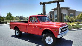 1970 Chevrolet K20 C20 Pickup Truck Fire 4x4 photo