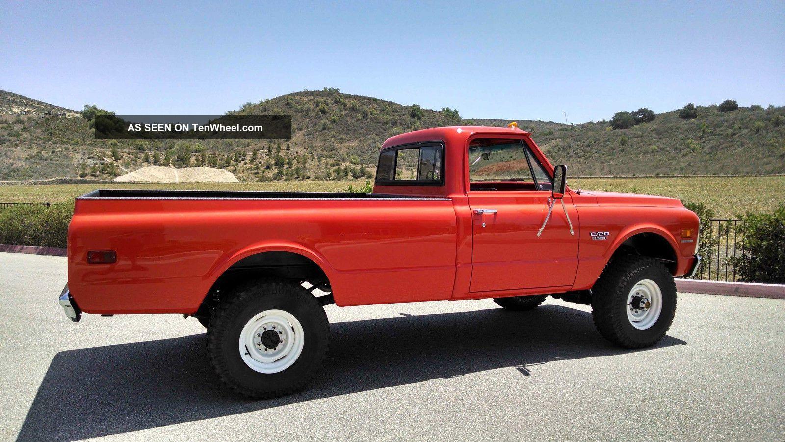 1970 chevrolet k20 c20 pickup truck fire 4x4. Black Bedroom Furniture Sets. Home Design Ideas