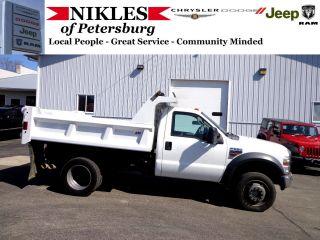 2008 Ford F550 Xl Dually Diesel Dump Truck photo