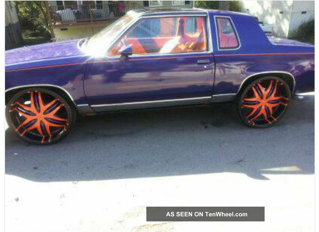1986 Cutlass Gbody T - Top On 24s Purple And Orange. Cutlass photo