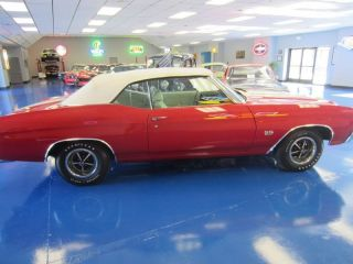 1970 Chevelle Ss Convertible Cranberry Red With White Top photo