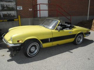 1976 Triumph Spitfire 1500 English Sports Car Project Minimal Rust,  Chrome photo