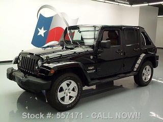 2011 Jeep Wrangler Unltd Sahara Convertible 4x4 28k Texas Direct Auto photo