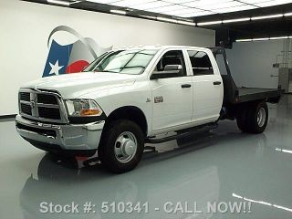 2011 Dodge Ram 3500 4x4 Crew Diesel Dually Flatbed 46k Texas Direct Auto photo