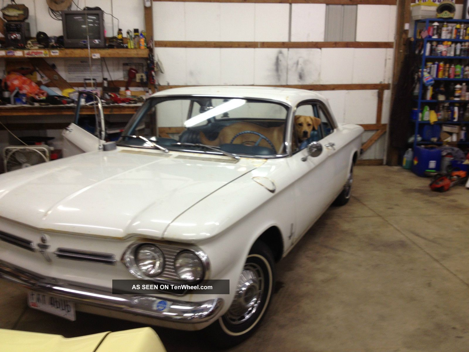 1962 2 Door Corvair,  Automatic,  80hp,  Paint And Body.  From Az.  Intr Corvair photo