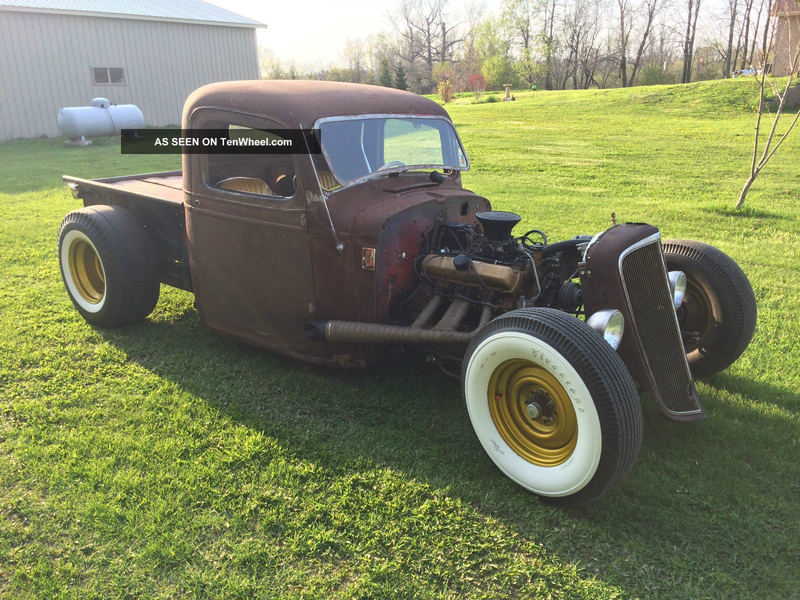 1937 Chevy Pick Up Rat Rod Model A Duece Hot Rod Traditional Custom Scta Other Pickups photo