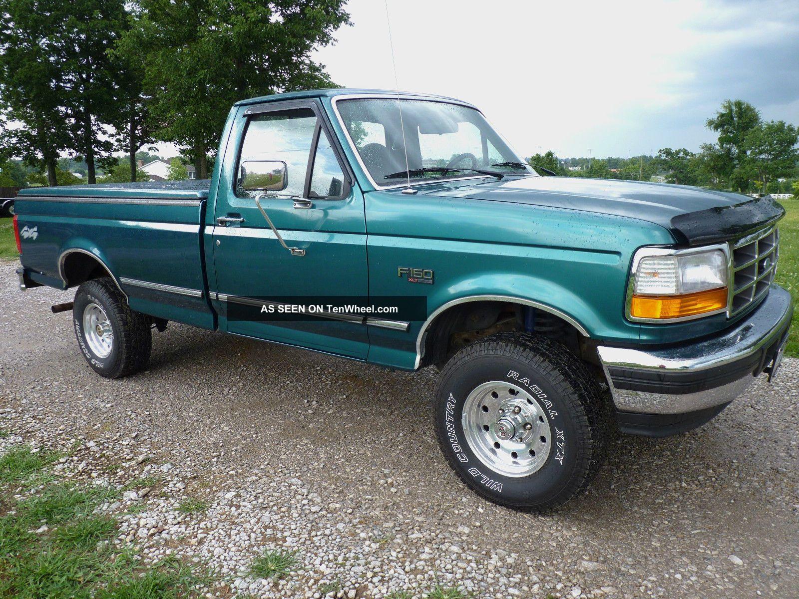 1996 Ford F 150 Xlt 1 2 Ton 4x4 Standard Cab Pickup 2 Door 5 0l