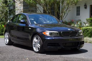 2014 Bmw 135i Coupe - Black With Oyster Interior photo