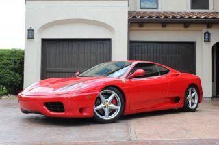 2001 Ferrari 360 Modena F1 Nouvalari Service Recs Scuderia Sheilds Daytona Seats photo