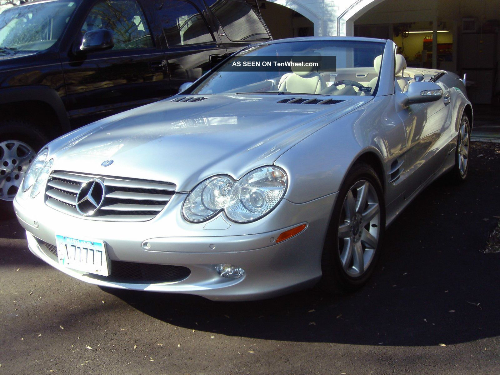 2003 Silver Exterior / Stone Two - Tone Mercedes Benz Sl500 SL-Class photo