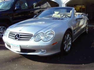 2003 Silver Exterior / Stone Two - Tone Mercedes Benz Sl500 photo