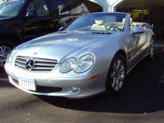 2003 Silver Exterior / Stone Two - Tone Mercedes Benz Sl500 photo