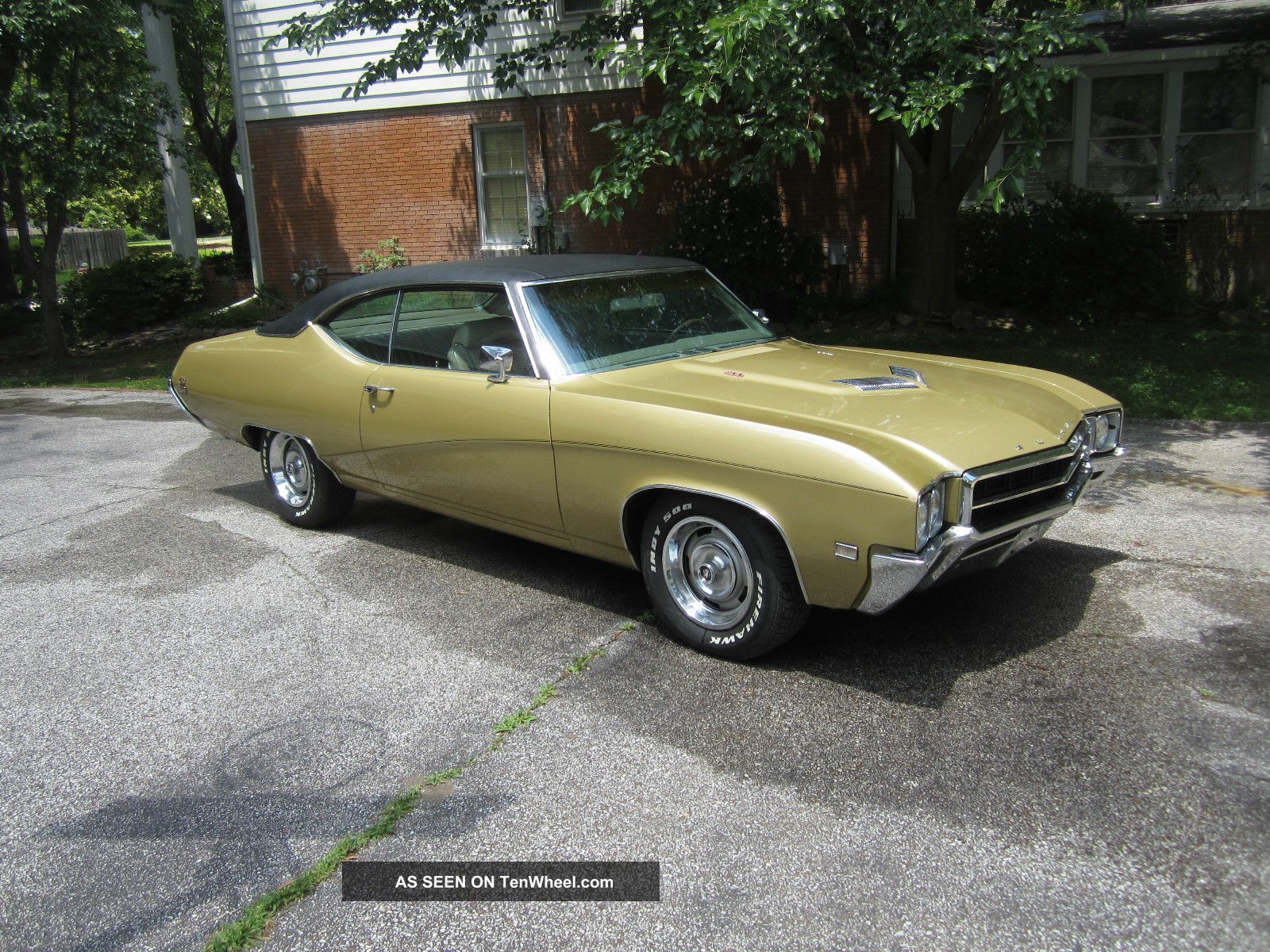 1969 Buick Gs400 Trumpet Gold Black Vinyl Mostly Numbers Matching Skylark photo