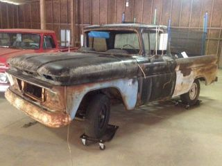 1963 Chevy C - 10 Barn Find High Optioned Rat Rod Shop Truck photo