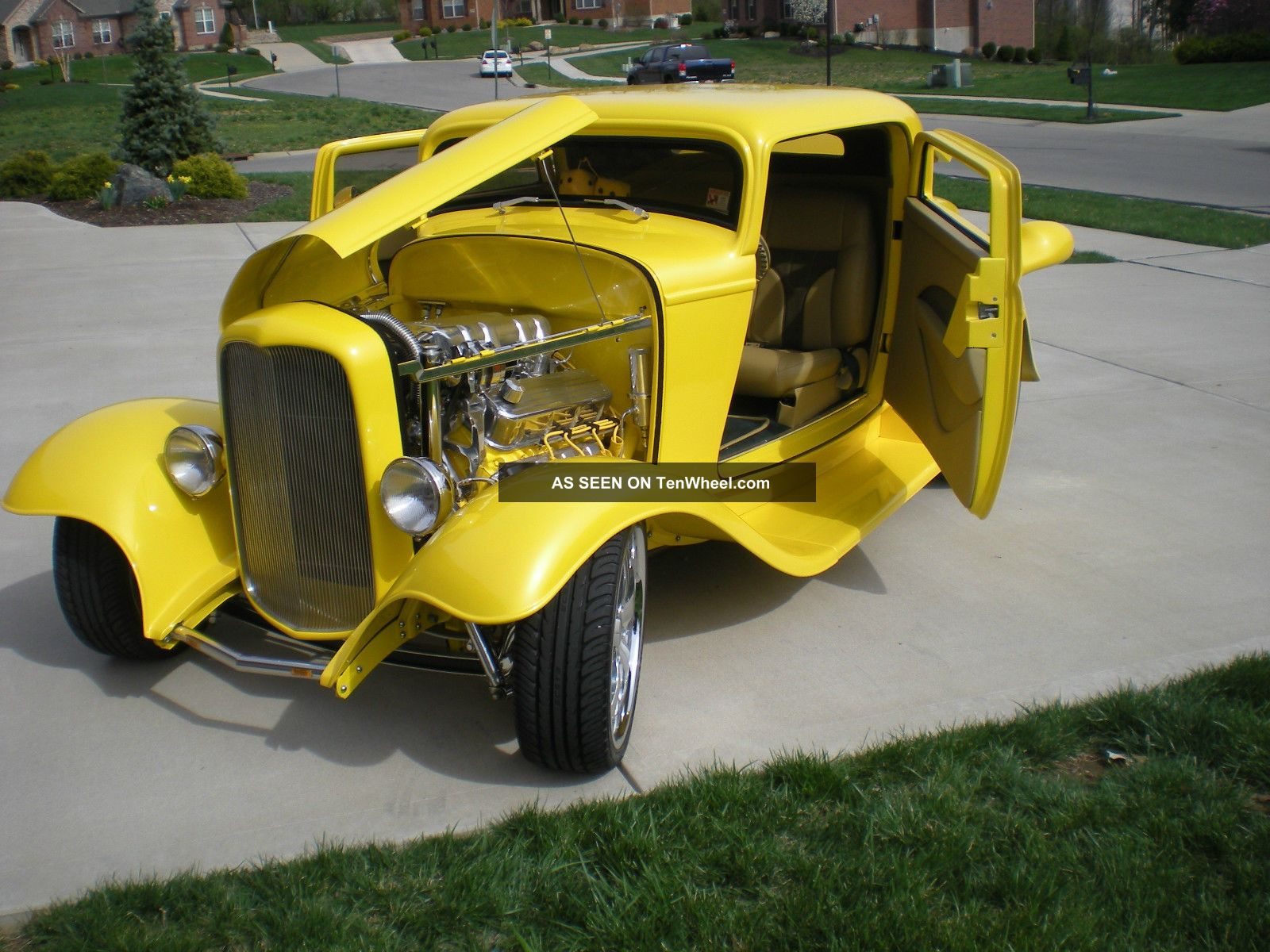 1932 Ford 3 Window Coupe Street Rod Gibbons Fiberglass Body Total Restoration Other photo