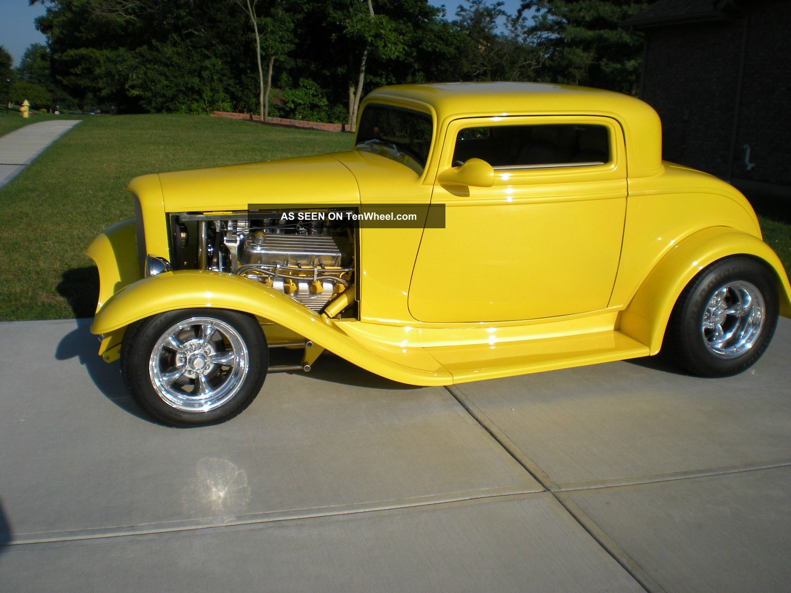 1932 ford 3 window coupe street rod gibbons fiberglass