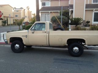 1984 Chevrolet K20 Custom Deluxe Diesel 4x4 6.  2l 4 Speed More Pics In photo