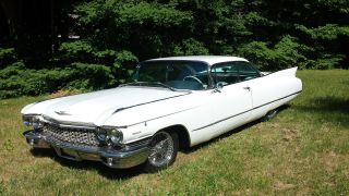1960 Cadillac White Model 62 2 Door Hard Top photo
