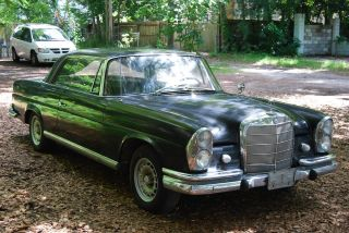 1962 Mercedes 220seb W111 Coupe 040 Black,  4 - Speed Manual,  Becker,  A / C, photo