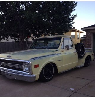 1970 Chevy C10 Chevrolet Truck Bagged Antique Classic photo