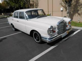 1962 Mercedes Benz Mbz 220s Sedan California Black Plates Barn Find photo