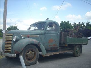 1940 Gmc 1 Ton Tow Truck Model T Bed Weaver Boom photo