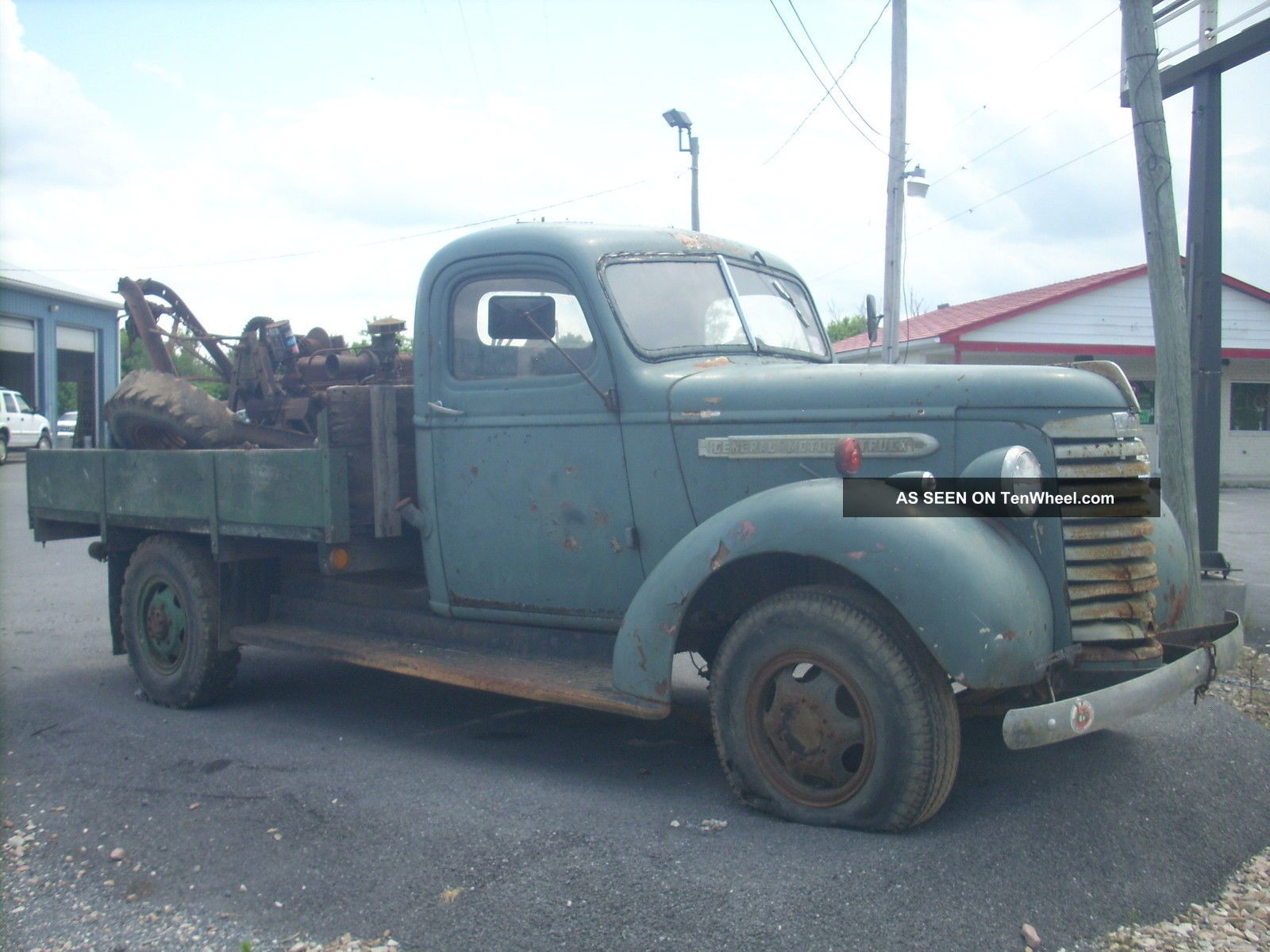 1940 Gmc 1 Ton Tow Truck Model T Bed Weaver Boom