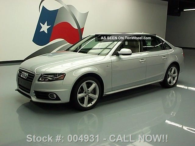 2012 Audi A4 Quattro Premium Plus S - Line Awd 61k Mi Texas Direct Auto A4 photo