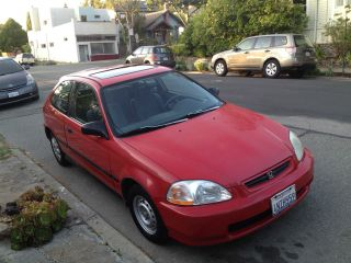1996 Honda Civic Hatchback - Runs Well,  Ac,  Stereo Cd, photo