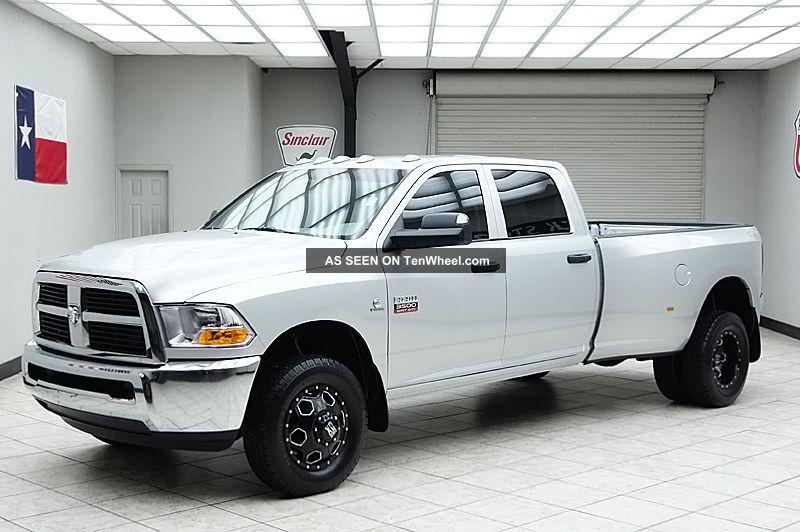 2012 dodge ram 3500 diesel 4x4 dually slt crew cab long bed 1 texas owner. Black Bedroom Furniture Sets. Home Design Ideas