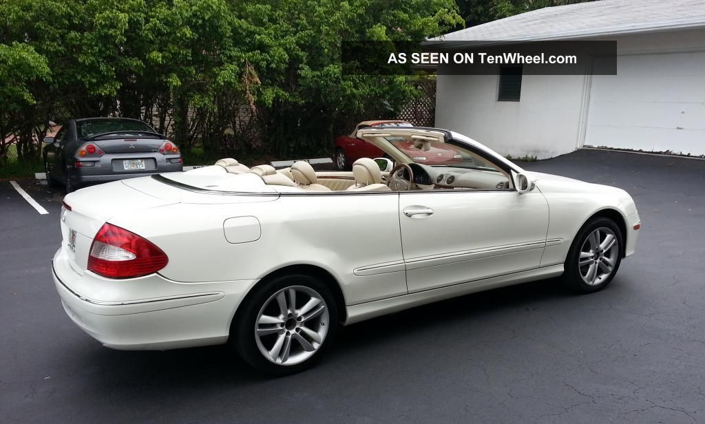 2008 mercedes benz clk 350 convertible interior power