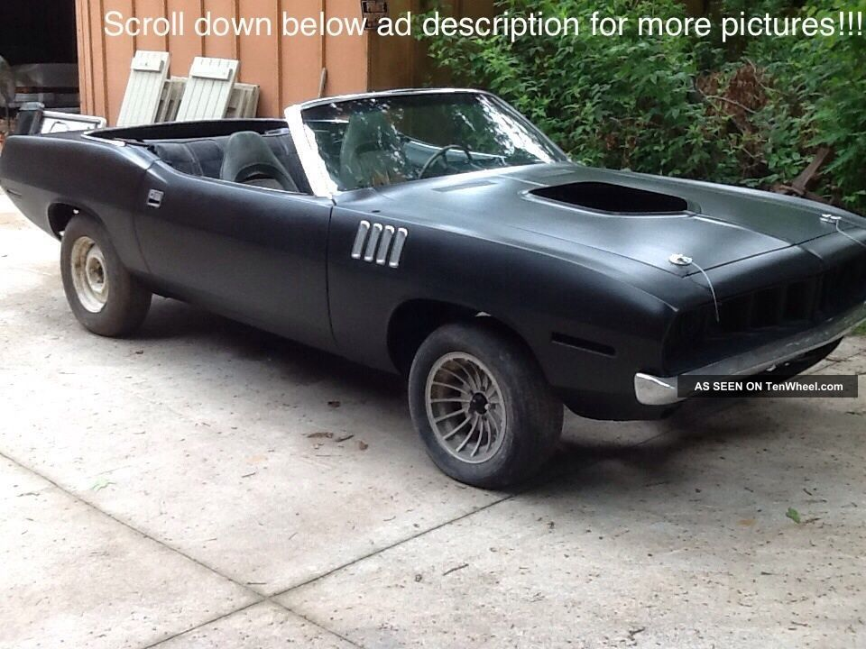 1971 Plymouth Barracuda Convertible - Rare - 1 Of 722 Made - Barracuda photo