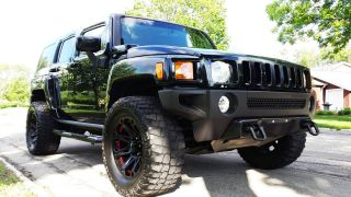 2006 Hummer H3 Awd 4x4 Black On Black Cd Dvd 33