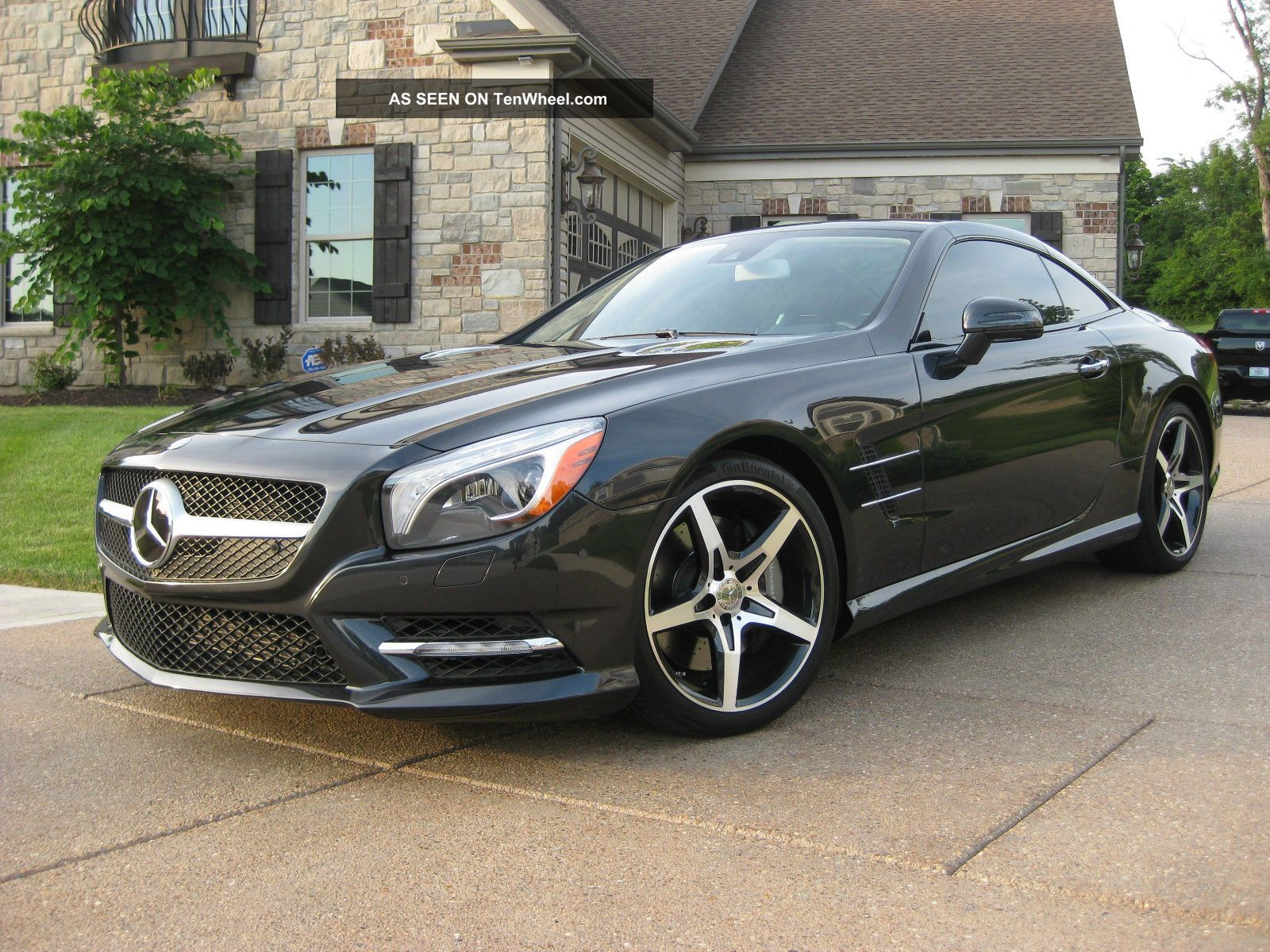 2013 Mercedes - Benz Sl550 Magnetite Black Perfect Msrp $123,  545.  00 SL-Class photo