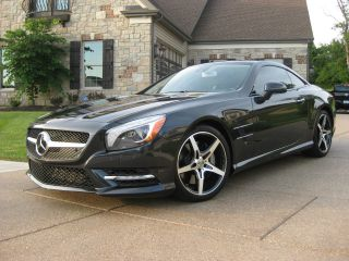 2013 Mercedes - Benz Sl550 Magnetite Black Perfect Msrp $123,  545.  00 photo