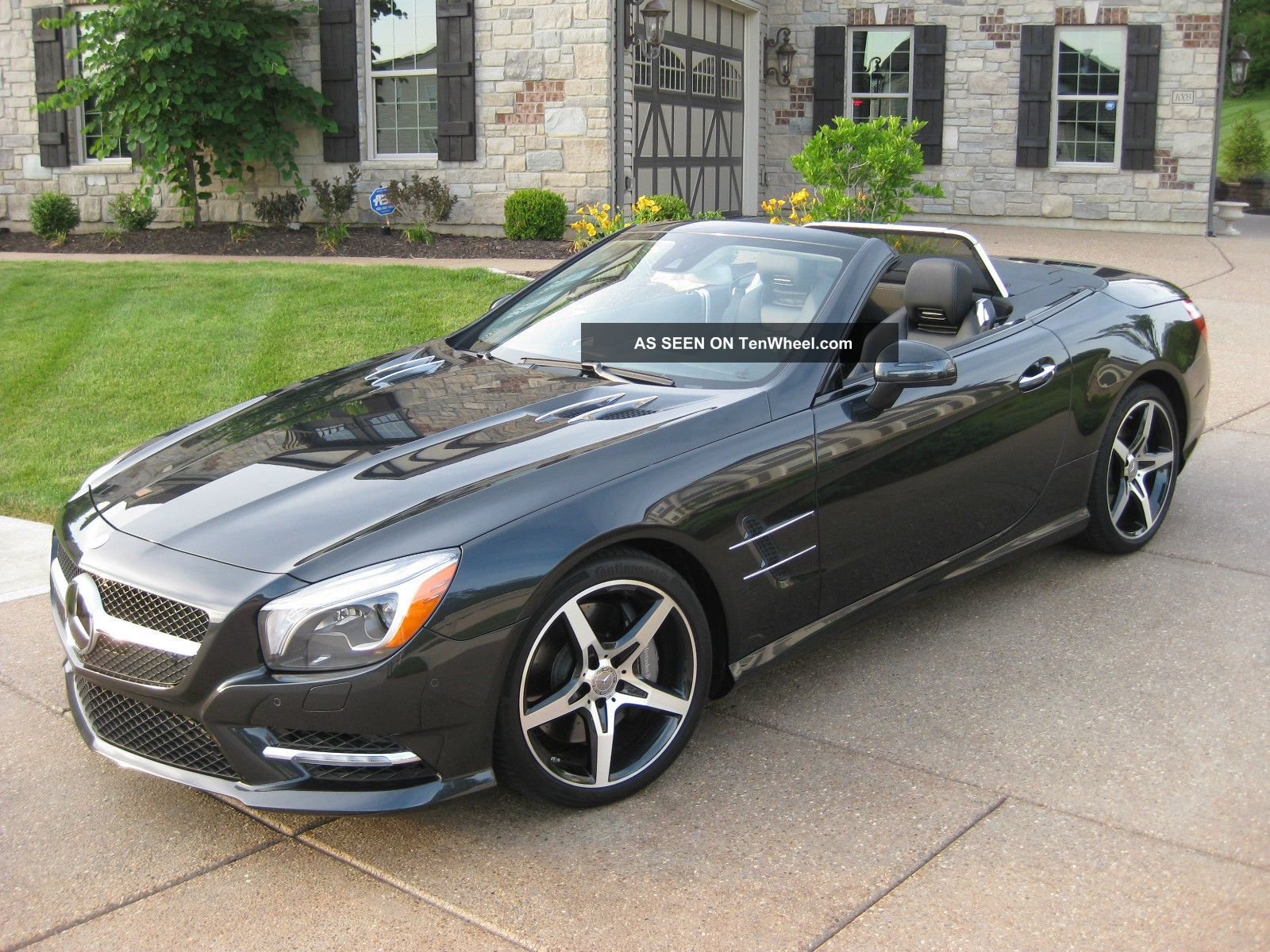 2013 Mercedes Benz Sl550 Magnetite Black Perfect Msrp 123 545 00