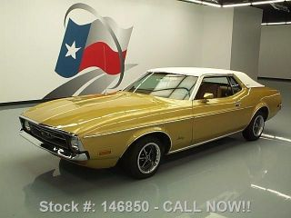 1972 Ford Mustang Hardtop Grande 351 V8 Vinyl Roof 67k Texas Direct Auto photo