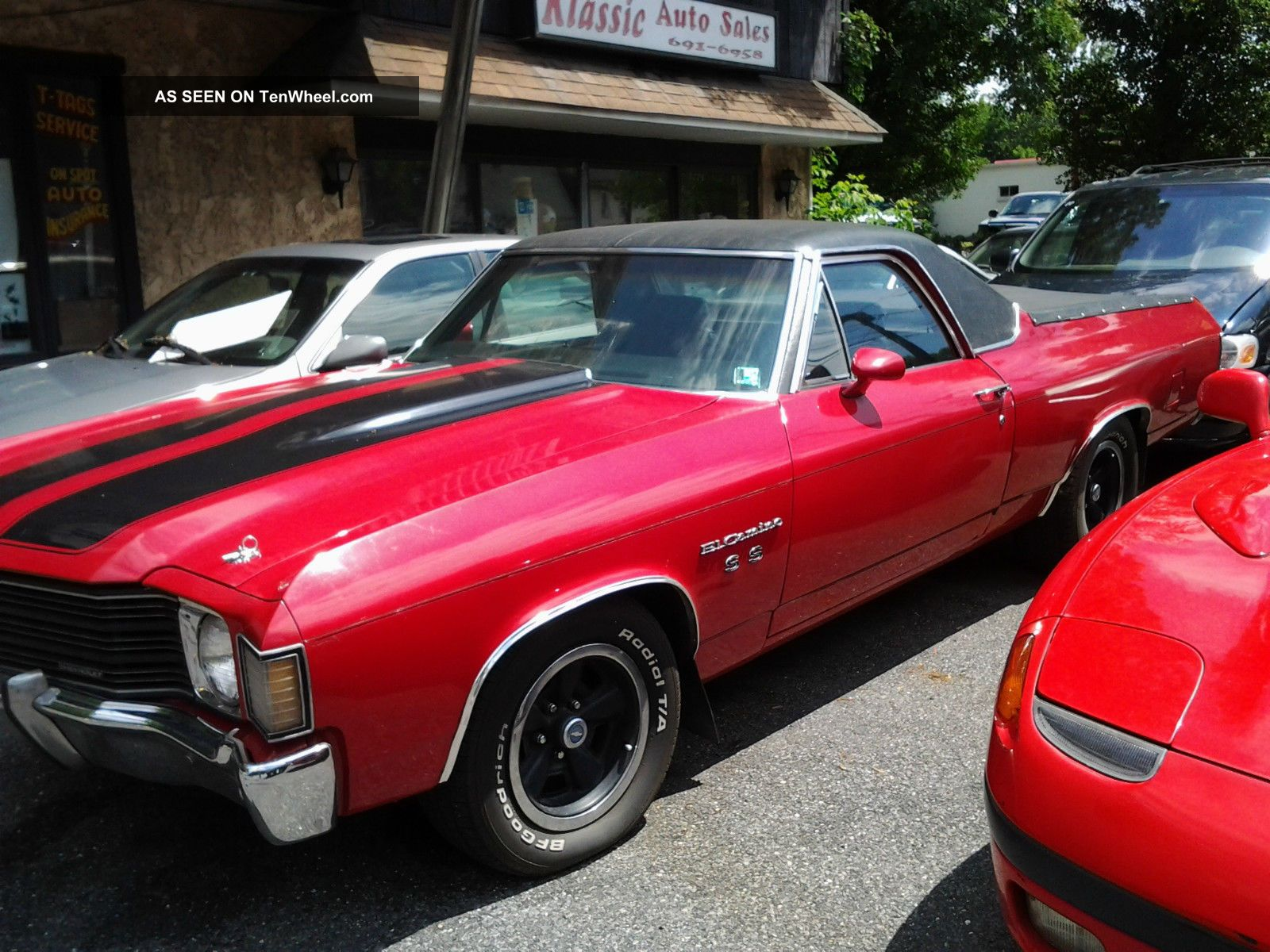 Chevrolet El Camino Ss Black Red Lgw