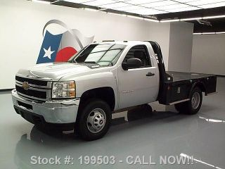 2013 Chevy Silverado 3500 Hd Reg Cab 4x4 Diesel Flatbed Texas Direct Auto photo
