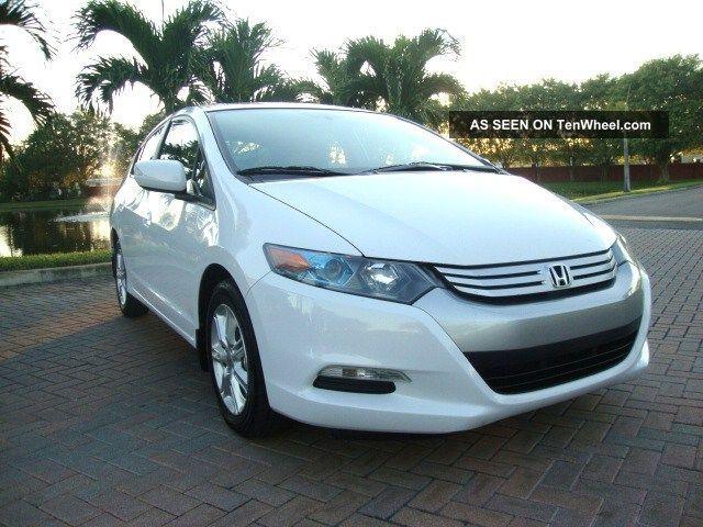 2010 Honda Insight Ex W / Hybrid White / Gray Insight photo