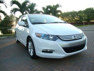 2010 Honda Insight Ex W / Hybrid White / Gray photo