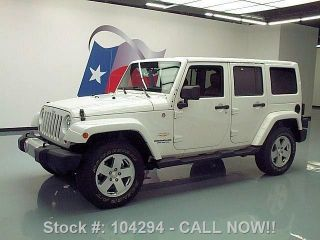 2012 Jeep Wrangler Unltd Sahara 4x4 Hardtop 24k Texas Direct Auto photo