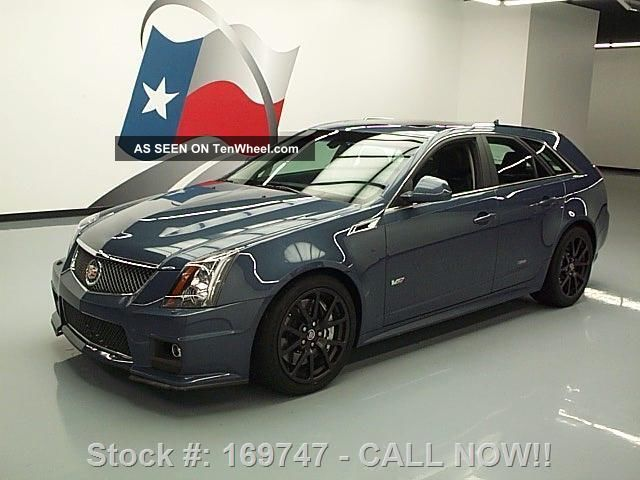 2013 Cadillac Ctsv Stealth Blue Ed Pano Roof Recaro Texas Direct Auto CTS photo
