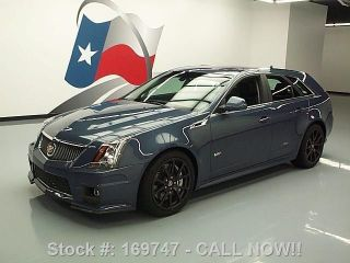 2013 Cadillac Ctsv Stealth Blue Ed Pano Roof Recaro Texas Direct Auto photo