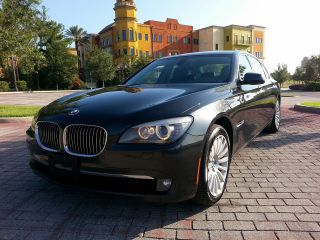 2010 Bmw 750i Xdrive Awd Dark Graphite Metallic - Black 96k Mi photo