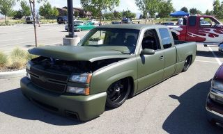 Body Dropped 2006 Chevy Silverado With Air Ride Bagged photo