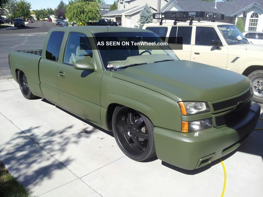 Body dropped 2006 chevy silverado with air ride bagged