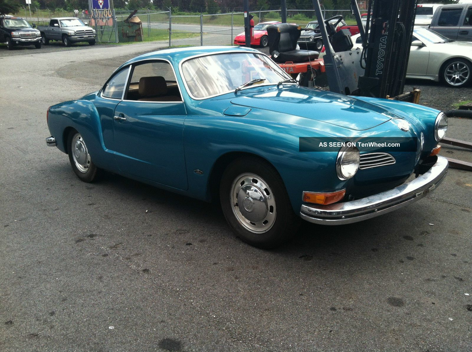 1972 Karmann Ghia Turquoise Tan Un - Molested Karmann Ghia photo
