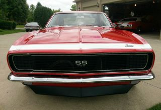1967 Camaro Rs / Ss,  396,  Auto,  Buckets / Console,  Beauty Red With White Nose Stripe photo